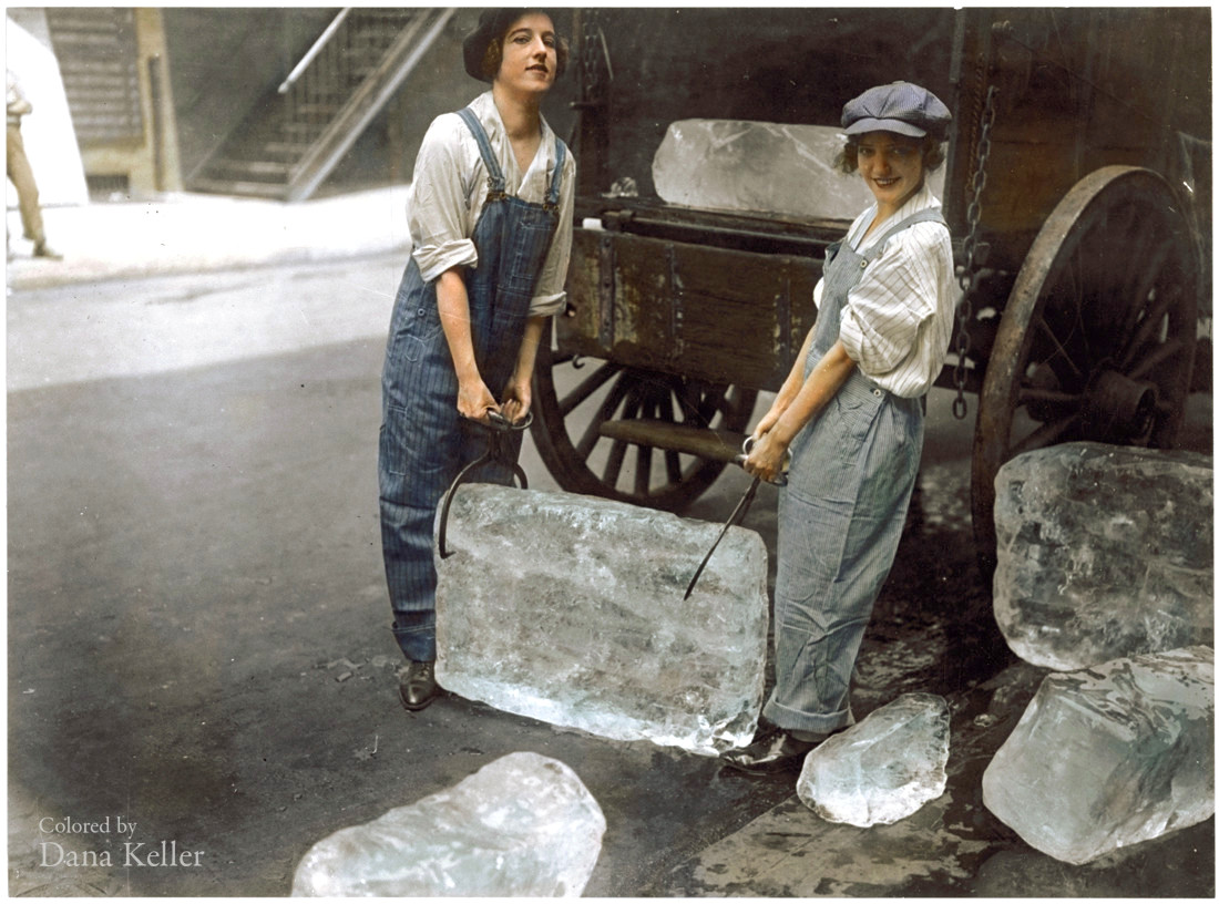 32-girls-deliver-ice-1918