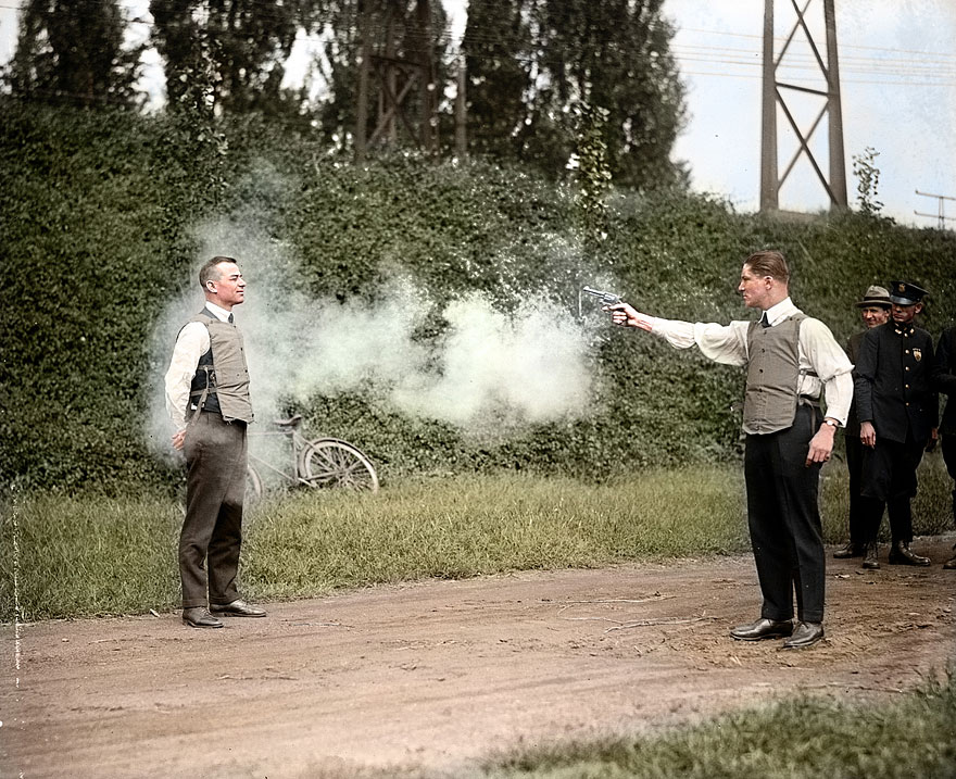 6-w-h-murphy-and-his-associate-demonstrating-their-bulletproof-vest-on-october-13-1923
