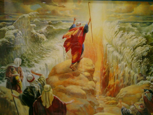 moses parting the read sea