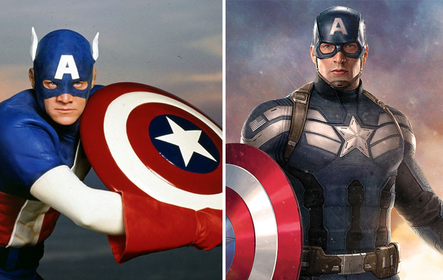 Captain America 1990 And 2016