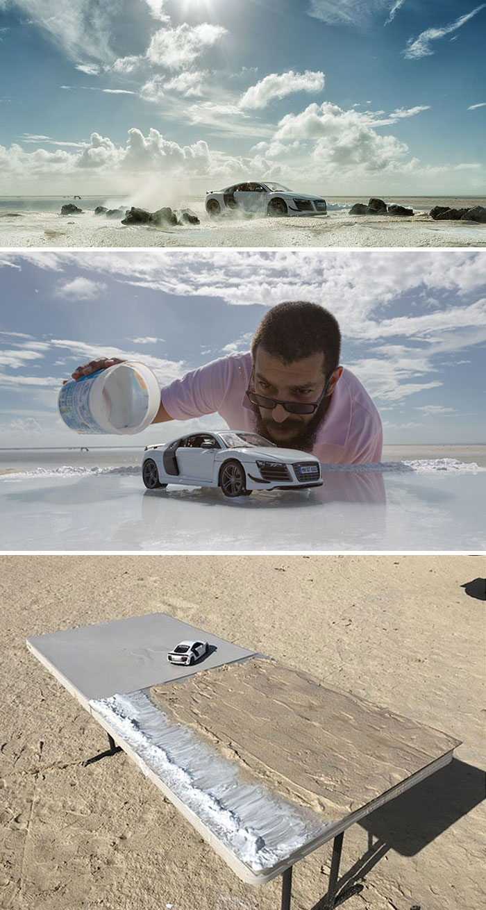 Audi Asks Photographer To Photograph Their 0,000 Sports Car, He Uses Miniature Toy Car Instead
