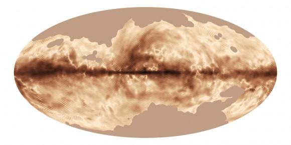 The magnetic field of our Milky Way Galaxy as seen by ESA's Planck satellite. Credit: ESA and the Planck Collaboration.