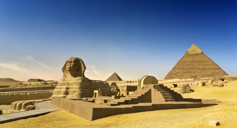 The great Sphinx of Giza and the Pyramid of Khafre. (WitR/iStock/Thinkstock)