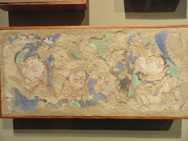 Fragments of a Kizil wall painting at the Nelson-Atkins Museum of Art in Missouri. (Image: Daderot/Wikimedia Commons)