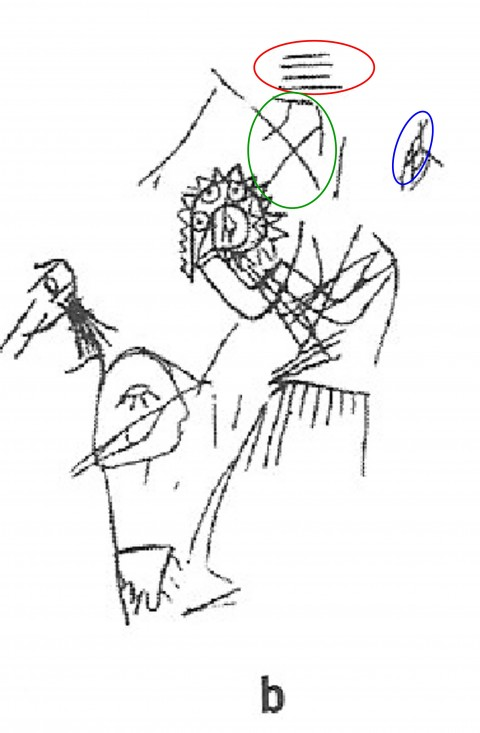 An illustration of a portion of the inscriptions on the Thruston Tablet. (Courtesy of DNA Consultants)