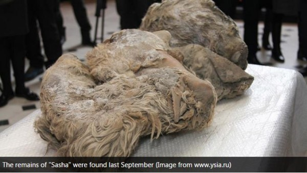 The remains of Sasha were found last September