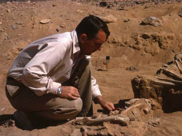 Archaeologists during the excavation in the 1960s