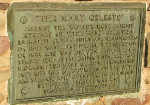 A memorial to the crew of the Mary Celeste, who vanished without a trace