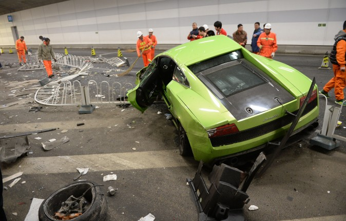 The crash in question. (STR/AFP/Getty Images)