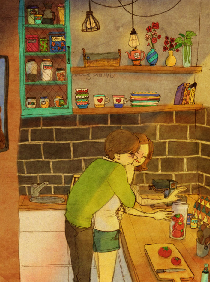 Artist Beautifully Illustrates That Love Is In the Small Things Through Heartwarming Drawings