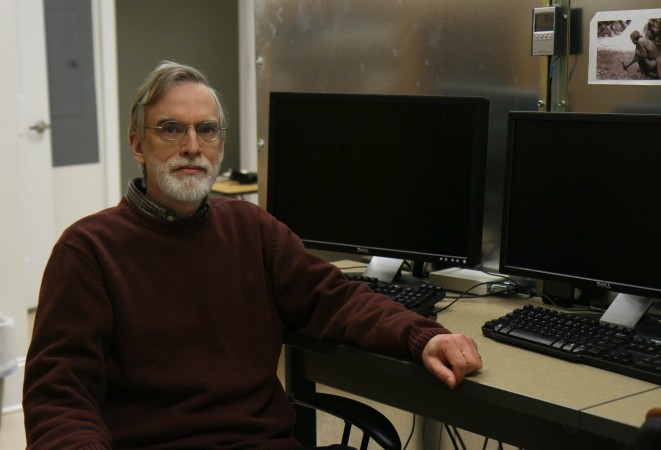 Dr. W.J. Ross Dunseath in his lab at the University of Virginia's Division of Perceptual Studies on Feb. 6, 2015. (Tara MacIsaac/Epoch Times)