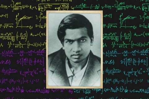 Srinivasa Ramanujan (Konrad Jacobs/Wikimedia Commons) Background: (Vertyr/iStock;edited by Epoch Times)
