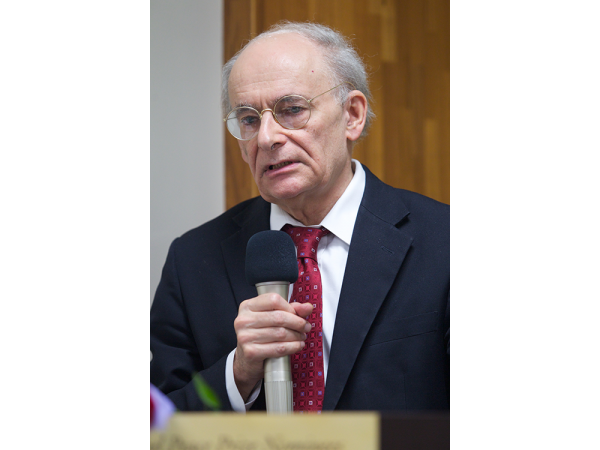 Human rights lawyer David Matas in Taiwan where he gave a talk about illegal organ harvesting in China. (Epoch Times)