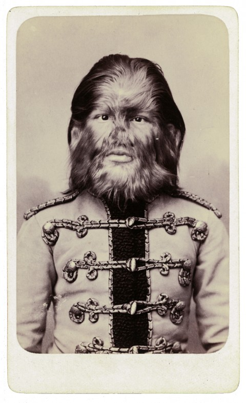 Fedor Jeftichew, better known as Jo-Jo the Dog-Faced Boy, a man with hypertrichosis who performed in a Russian sideshow, ca. 1880s. (Charles Eisenmann)