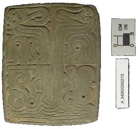 Printing Seal from the Adena Culture. (Courtesy of the Ohio Historical Society)