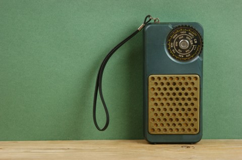 Image of an old radio via Shutterstock