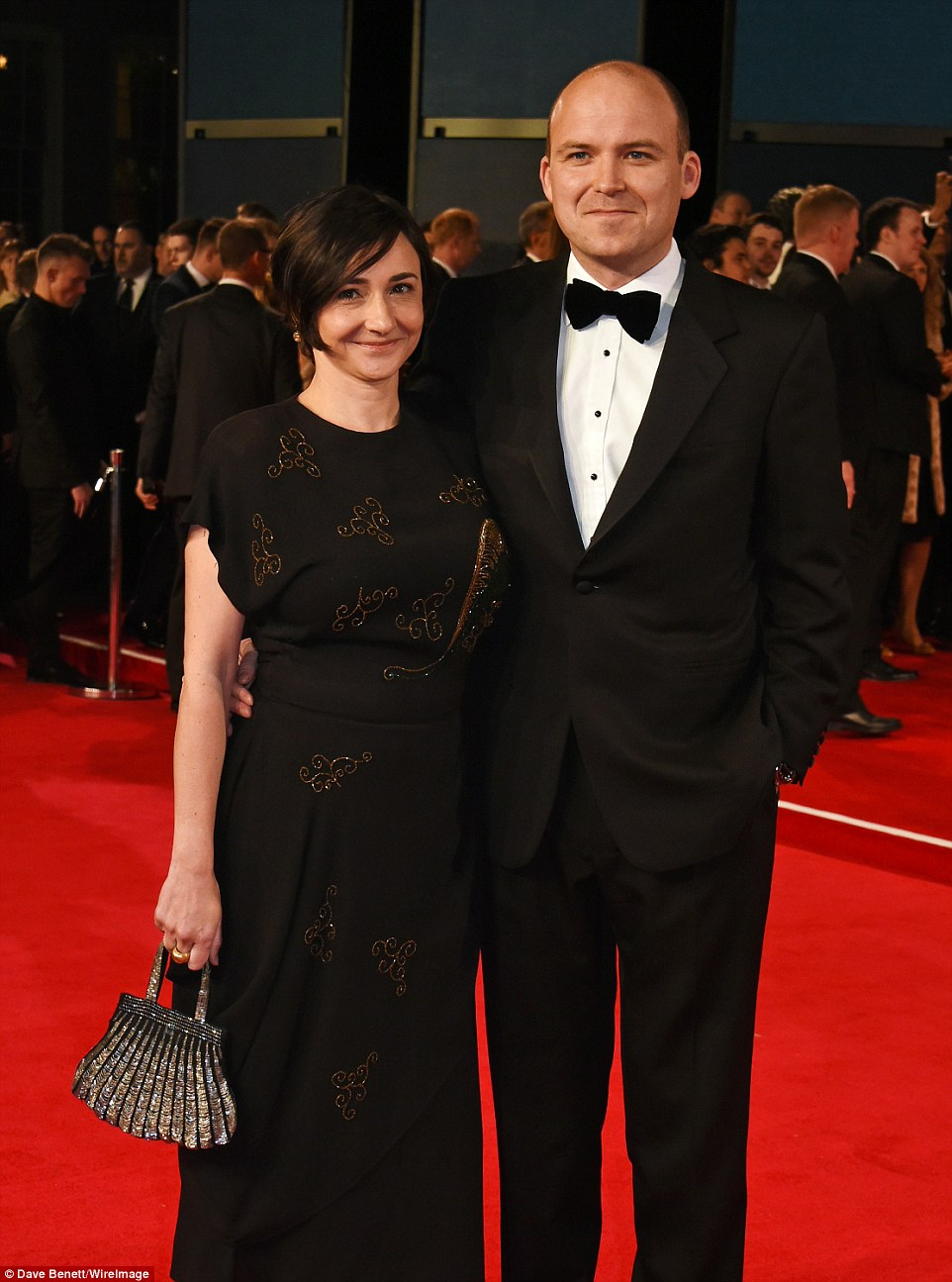 Part of the family: Rory Kinnear, who is the MI6 Chief of Staff in the Bond film, attended with his partner Pandora Colin