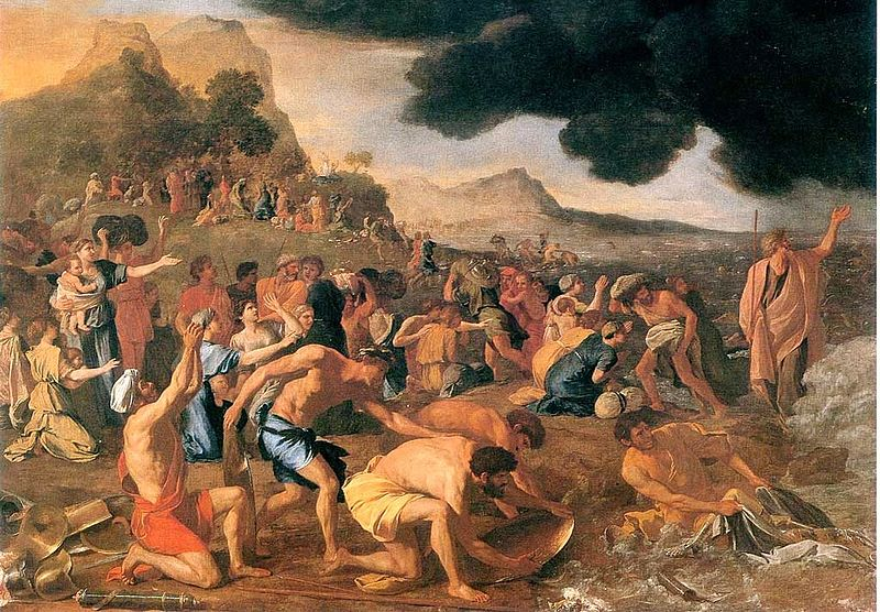 "9. Bức ""Crossing of the Red Sea"", 1634, (Họa sĩ: Nicolas Poussin)"