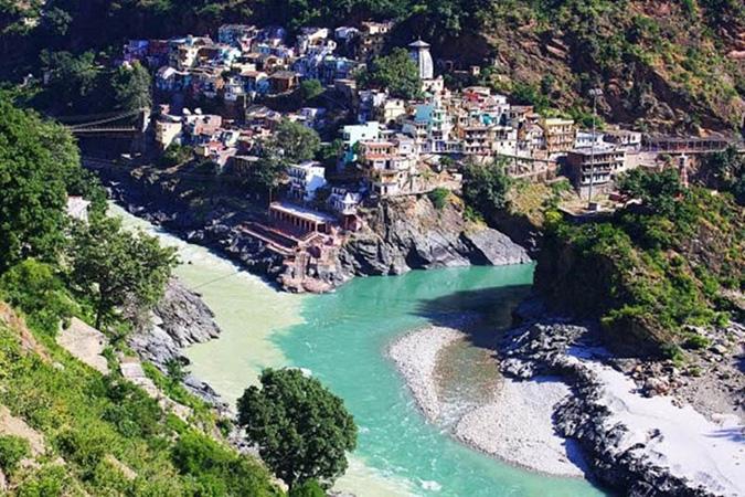 Sông Alaknanda và sông Bhagirathi ở Ấn Độ. (Ảnh: Internet)