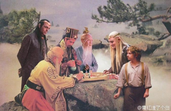 Chơi cờ vua. (Ảnh: Weibo.com)