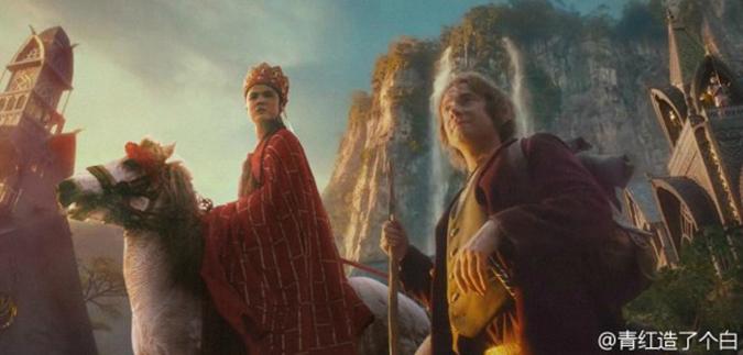 Đường Tăng và Bilbo Baggins. (Ảnh: Weibo.com)