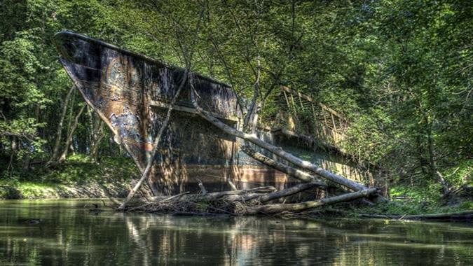 Con tàu ma trên sông Ohio (Ảnh: Fred Haaser, 500px)