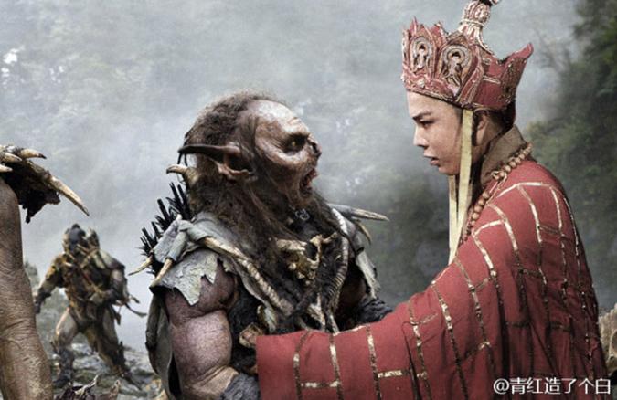 Đường Tăng cố gắng khuyên bảo một tên Orc làm người tốt và ngừng giết chóc. (Ảnh: Weibo.com)
