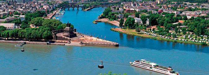 Sông Moselle và sông Rhine ở Đức. (Ảnh: Internet)