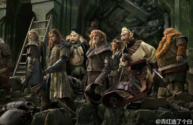 Thorin và những người lùn có quân tiếp viện. (Ảnh: Weibo.com)