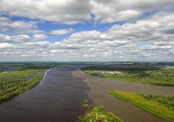 Sông Tobol và sông Irtysh thuộc tỉnh Tobolsk, Nga. (Ảnh: Internet)