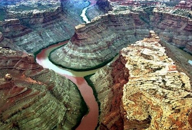 Sông Green và sông Colorado ở Mỹ. (Ảnh: Internet)