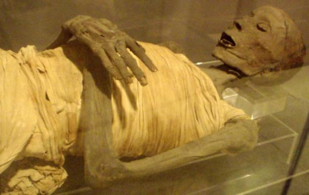 The mummified remains of 'Usermontu'. (Wikimedia Commons) Xác ướp 'Usermontu'. (Ảnh: Wikimedia)