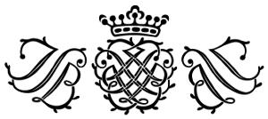 Con dấu của Bach, có chữ viết tắt các chữ cái đầu JSB - tên nhà soạn nhạc thiên tài (Johann Sebastian Bach)