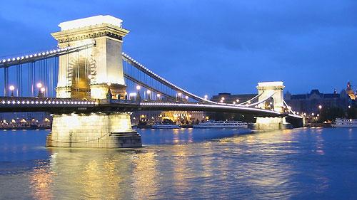 Danube xanh về đêm lung linh