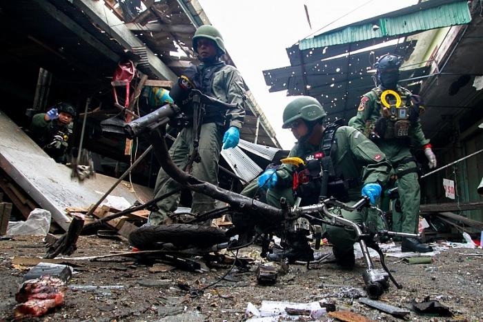 Bom phát nổ tại chợ Thái Lan, 21 người thương vong