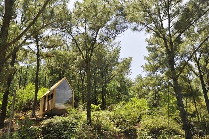 Nhà gỗ siêu nhỏ tại Sóc Sơn lên báo nước ngoài