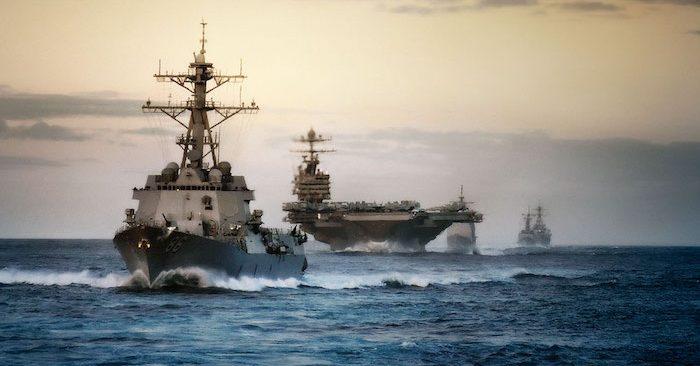 Mỹ ủng hộ giải quyết tranh chấp Biển Đông theo luật pháp và thông lệ quốc tế. (Ảnh: Hải quân Hoa Kỳ)