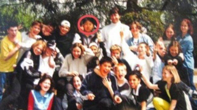 Một bức ảnh chụp Kim Jong Un trong thời gian du học ở Thụy Sỹ (Ảnh: EPA)