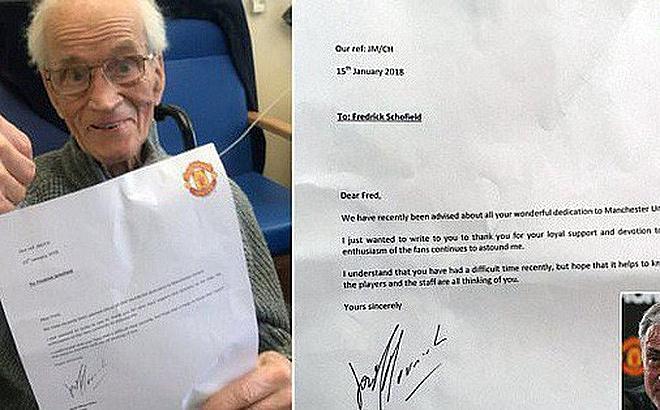 Mourinho gửi thư cho fan Man United 94 tuổi