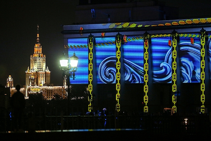 moscow ruc ro sac mau trong le hoi vong tron anh sang lon nhat the gioi