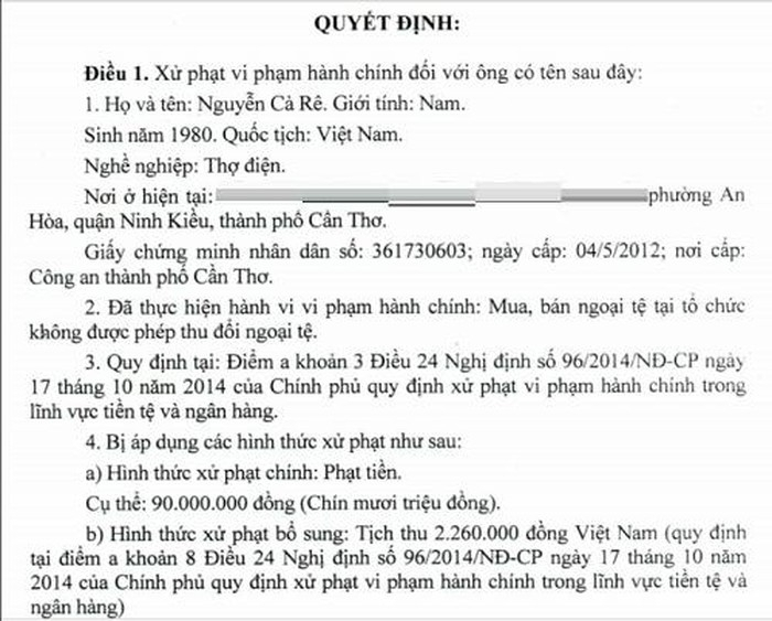 can tho mien phat 90 trieu dong cho anh nguyen ca re