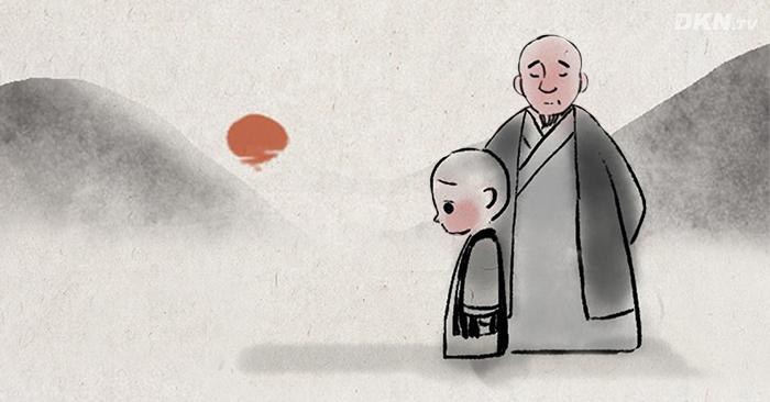 Lão hòa thượng và tiểu hòa thượng