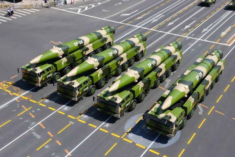 Chinese DF-26 missiles