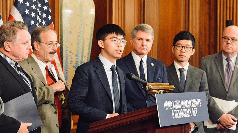 File:Joshua Wong speaks at the US Capitol, 2019.jpg