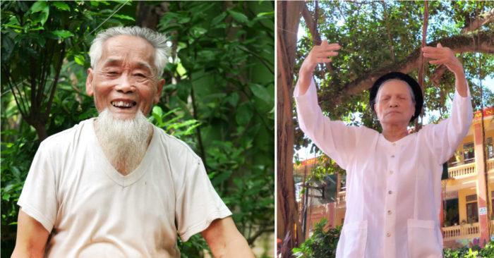 An phận chờ ngày 'lá rụng về cội', vợ chồng cụ ông hơn 90 tuổi lại tìm được phương pháp để sống khoẻ, vui